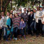 Primer grupo de visitantes de la Sociedad Colombiana de Orquideología